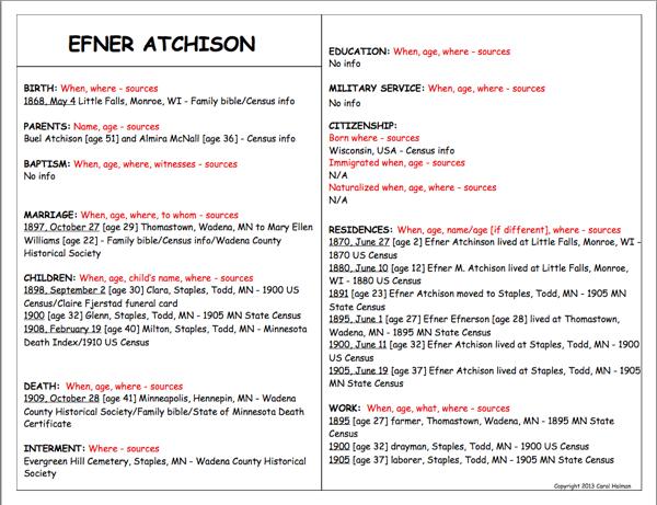 Efner Atchison Fact Sheet