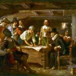 The Mayflower Compact by Jean Leon Gerome Ferris (1863–1930)